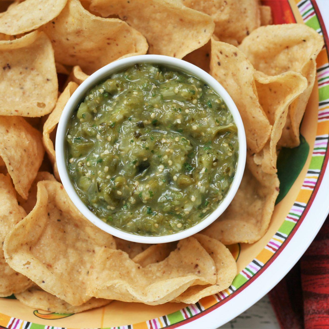 Air Fryer Roasted Salsa Verde