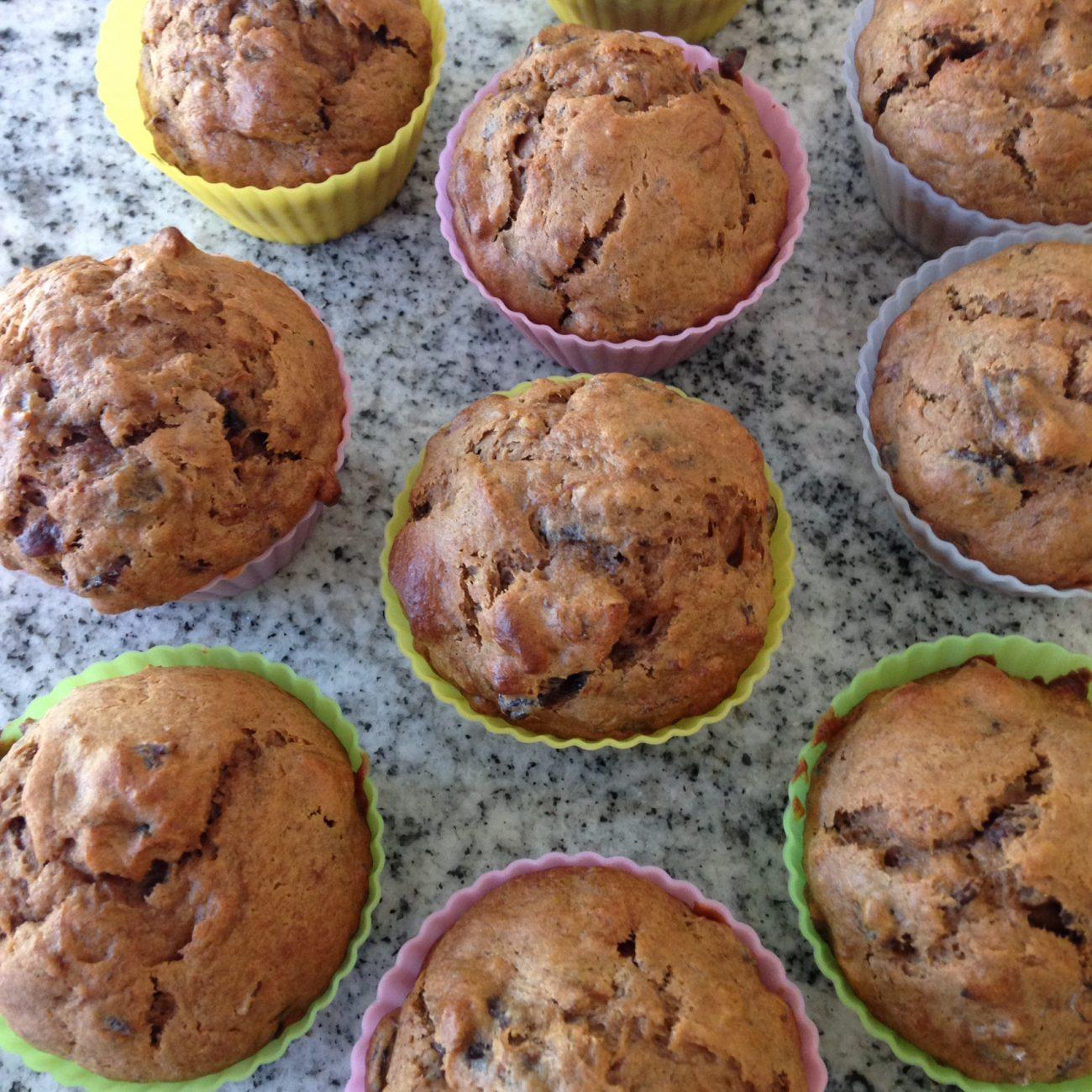 Sugarless Fruit Nut Muffins Recipe