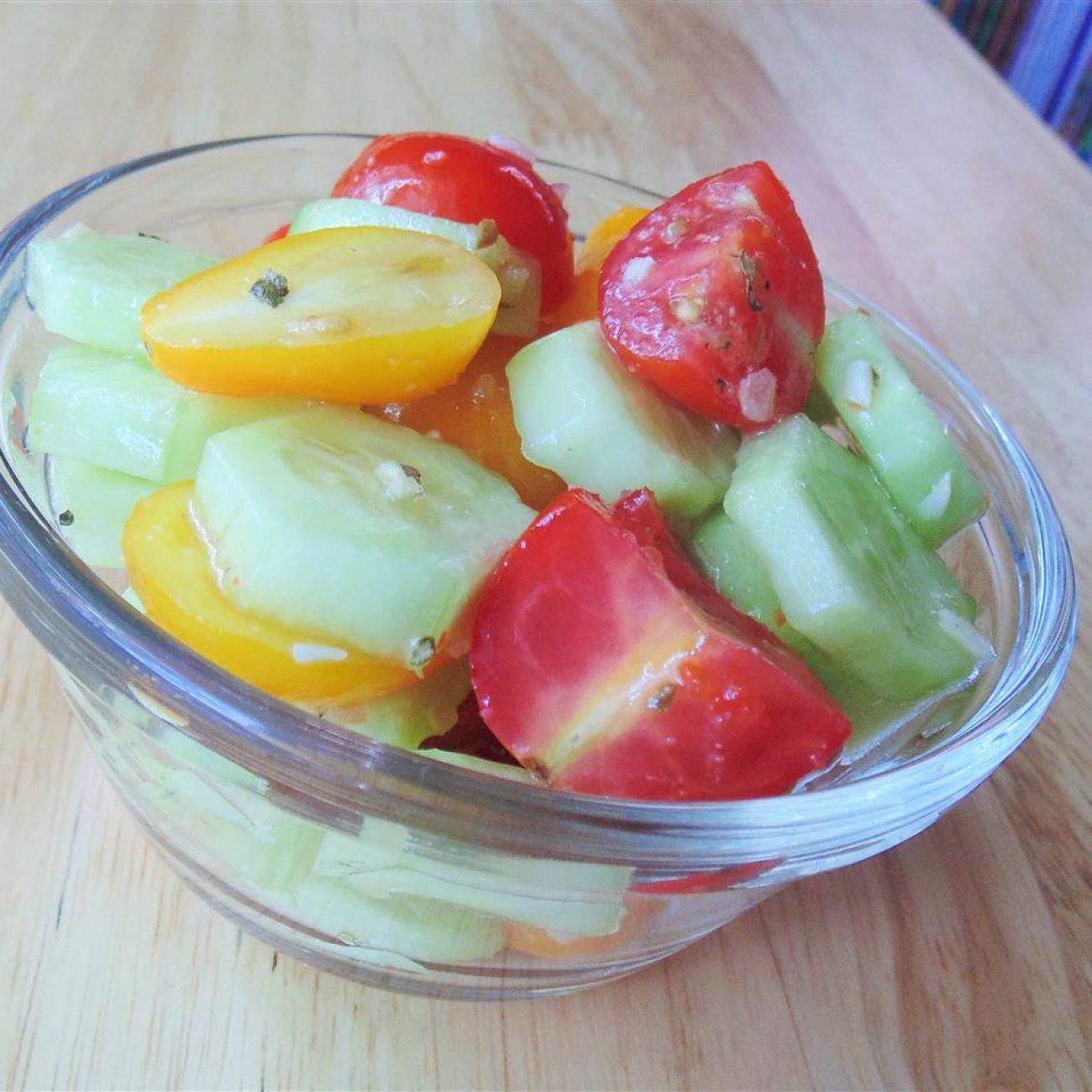 Wish-Bone® Cucumber and Cherry Tomato Salad Recipe