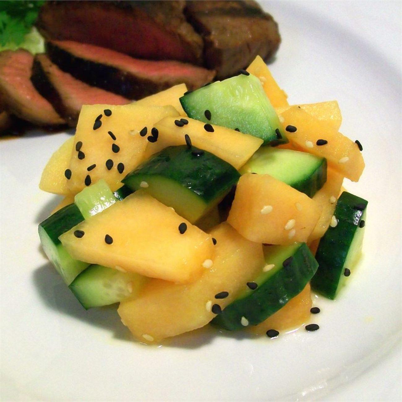 Cucumber and Cantaloupe Salad Recipe