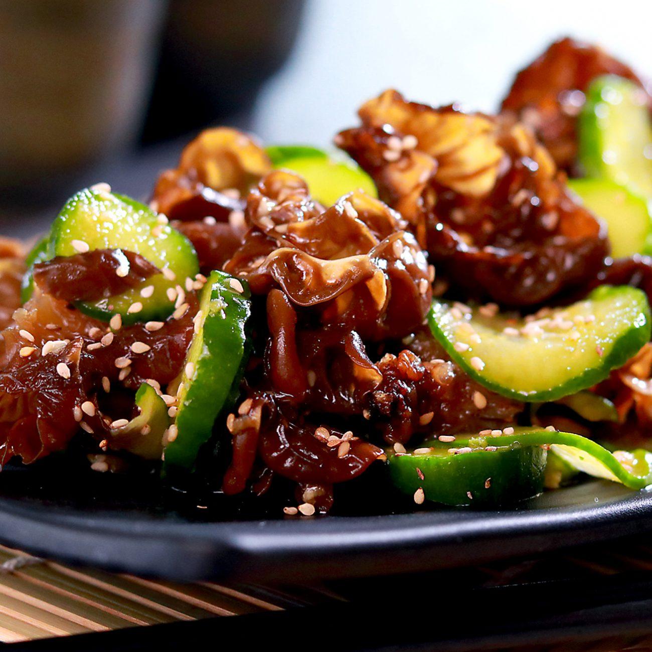Chilled Cucumber and Wood Ear Mushroom Salad Recipe