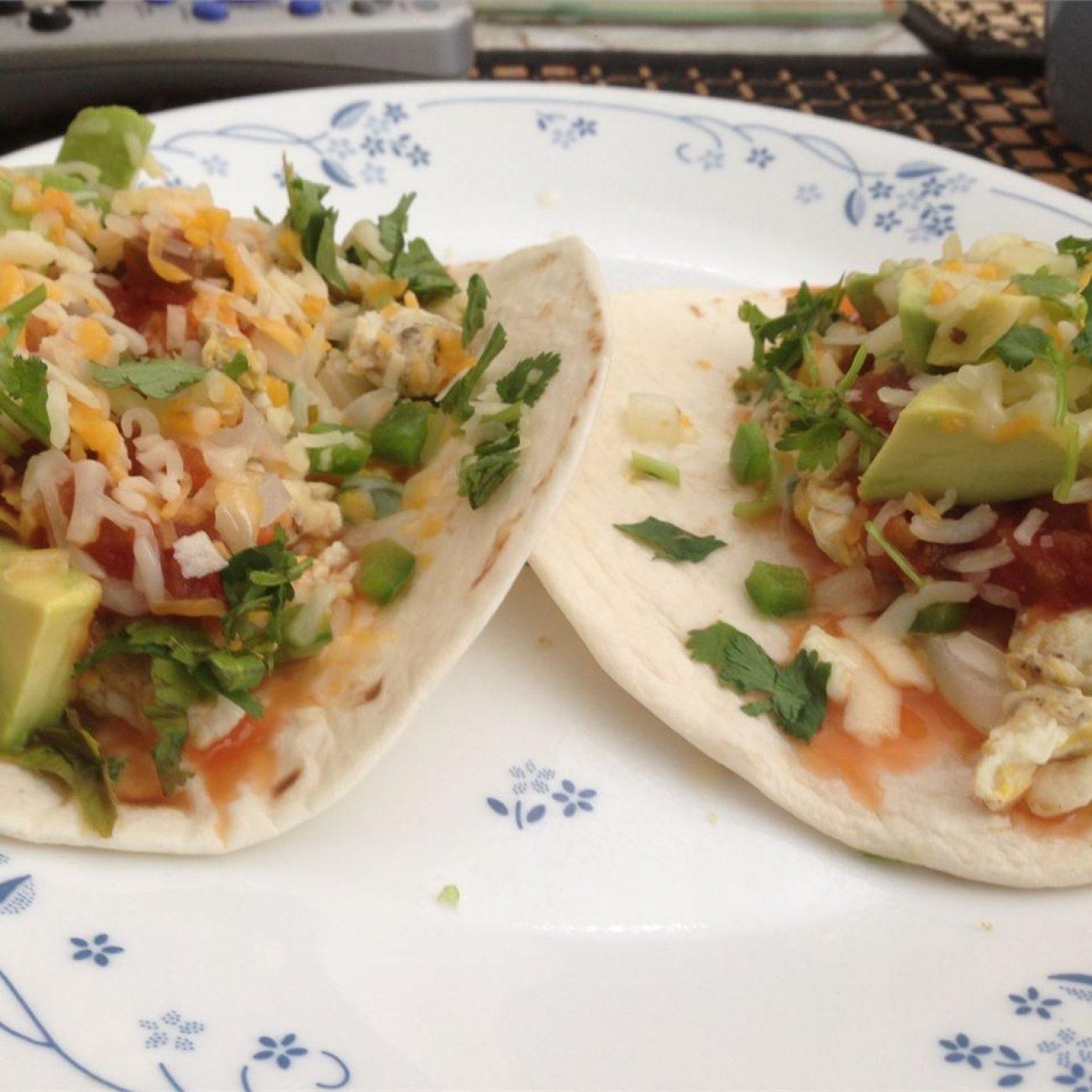 Egg and Veggie Breakfast Tacos