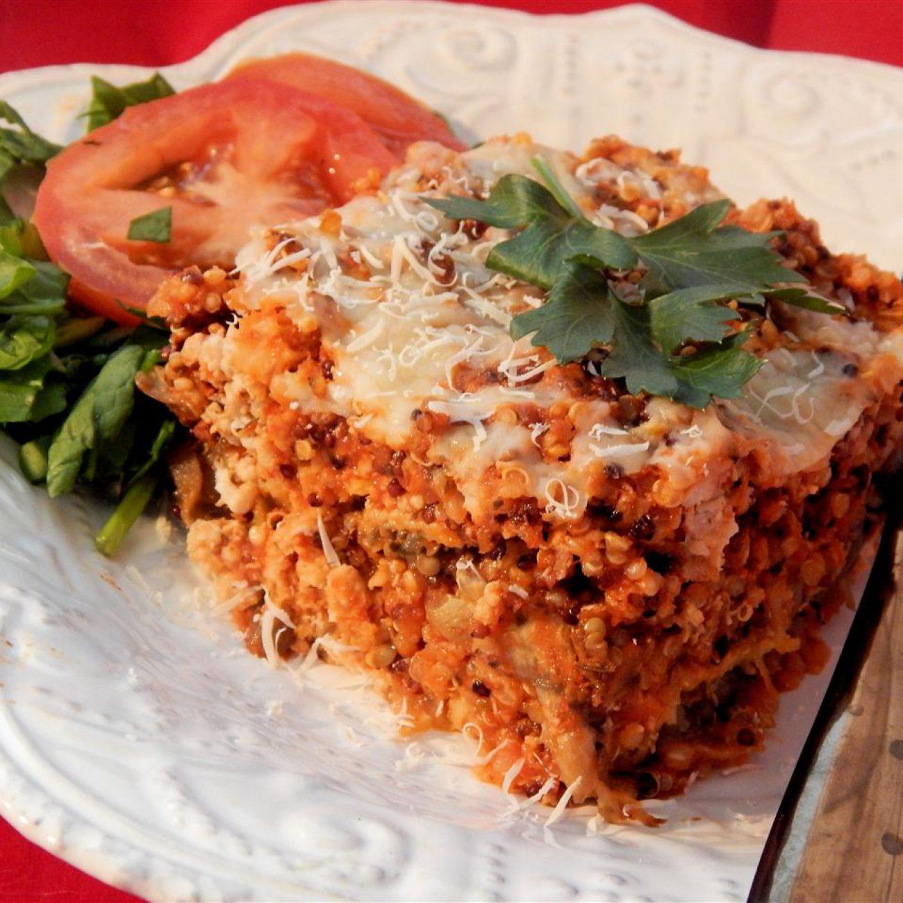 Low-Carb Turkey Quinoa Lasagna Recipe