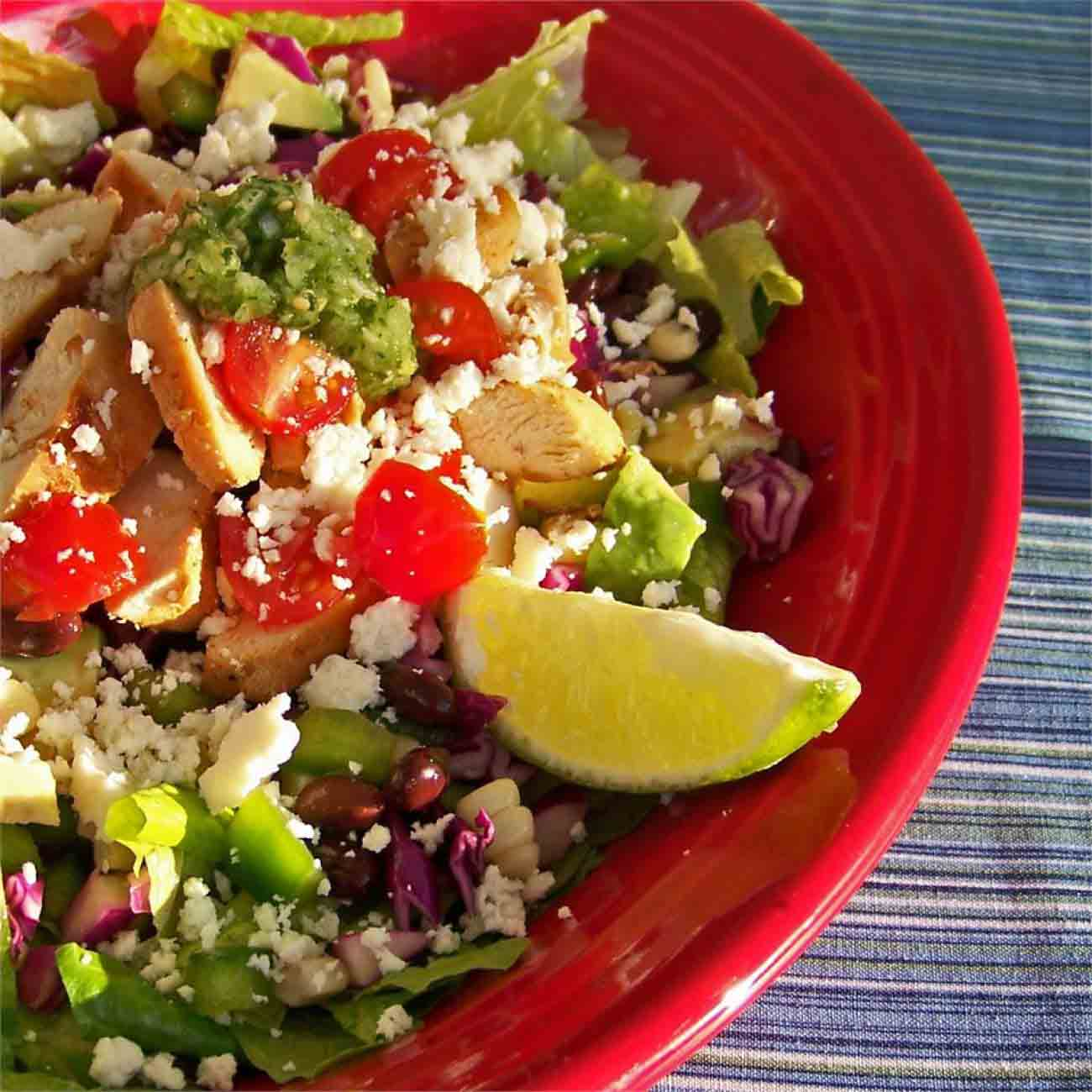 Spicy Southwest Chopped Salad with Salsa Verde Recipe