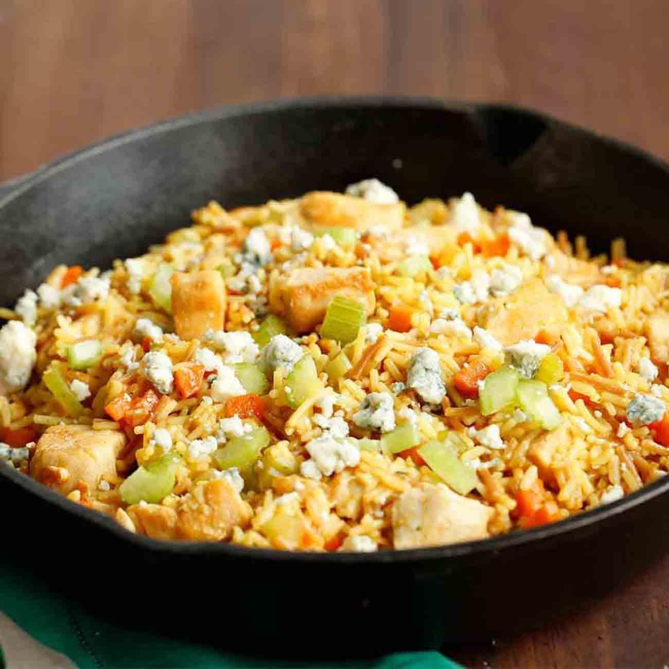 Buffalo Chicken & Rice Skillet Recipe