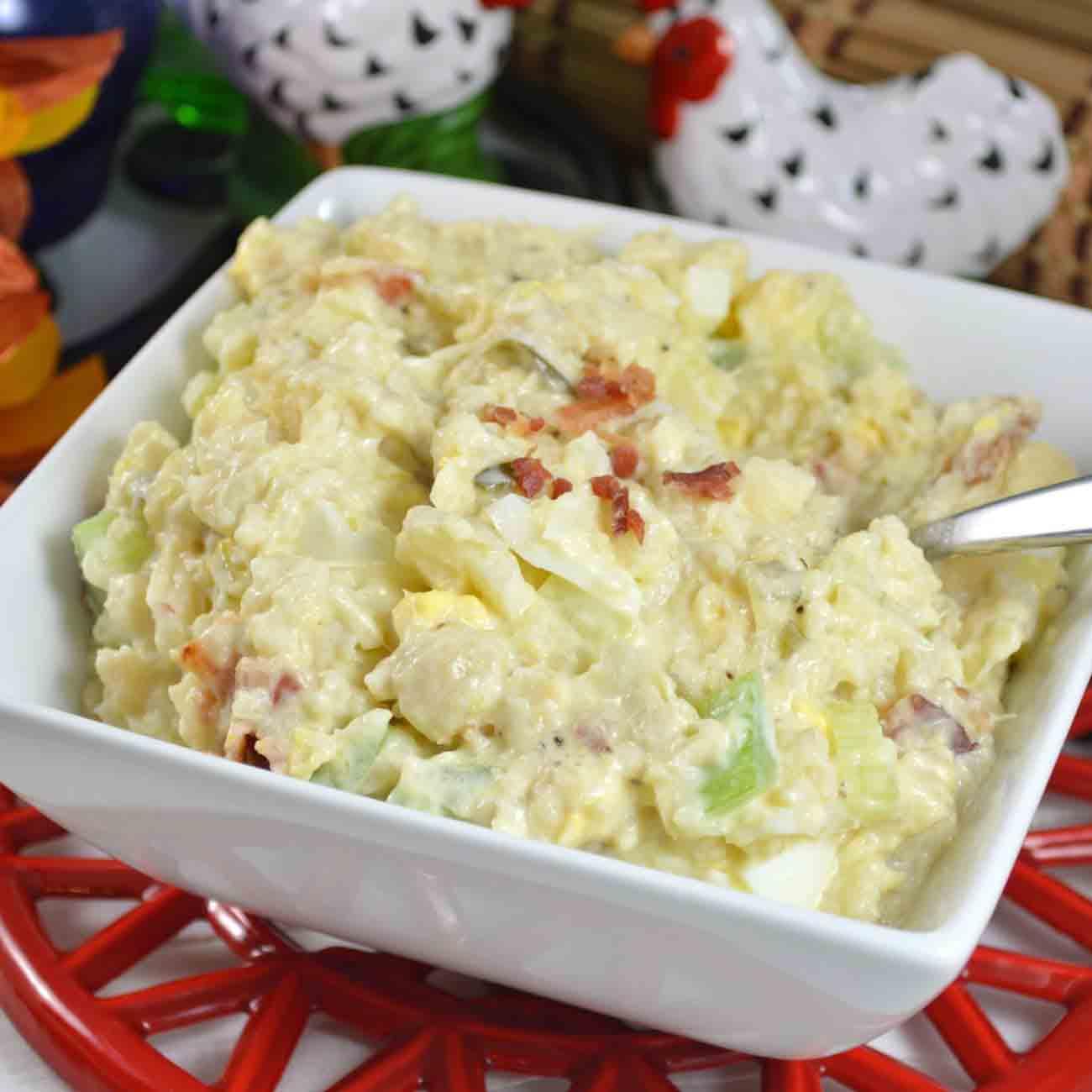 Low-Carb Cauliflower Mock Potato Salad Recipe
