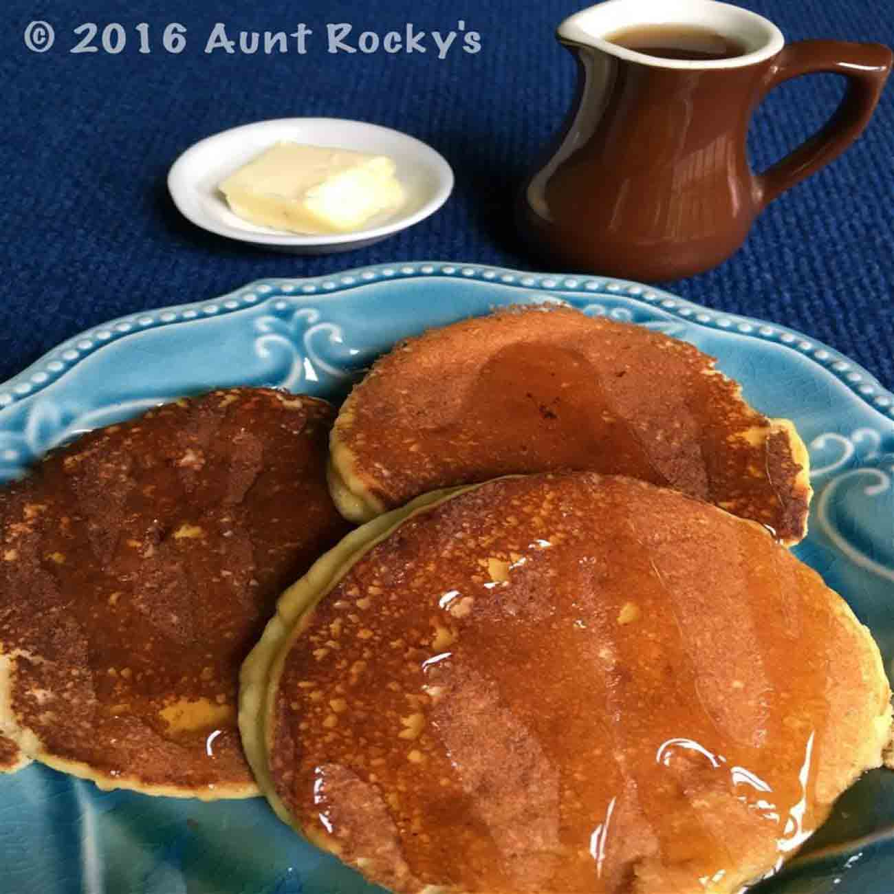 Aunt Rocky's Fluffy LCHF Pancakes (Low Carb, Grain Free, Gluten Free, Low Glycemic) Recipe