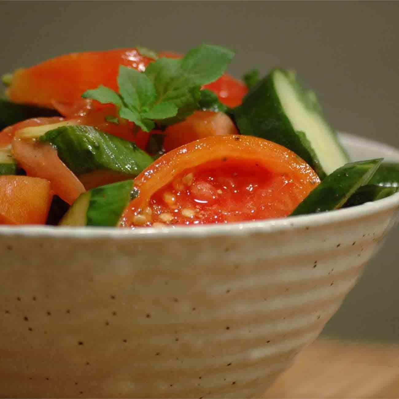 Tomato Cucumber Salad with Mint Recipe